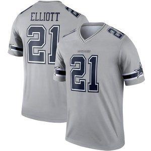 NEW NFL Men's 21# Ezekiel Elliott Nike Grey jersey
